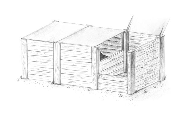Kompostboxen sind für grössere Mengen ideal